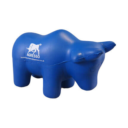 Bull shaped stress ball front view