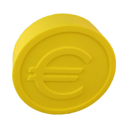 Euro coin stress ball shape front view