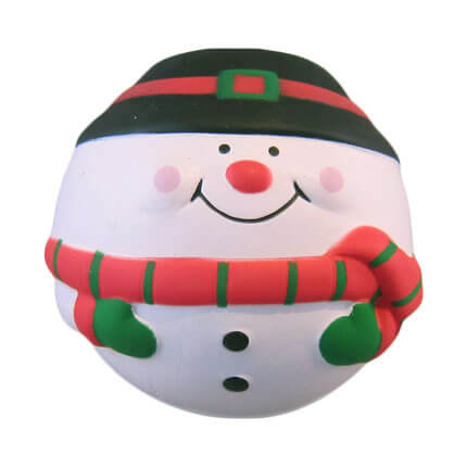 Snowman stress ball shape front view