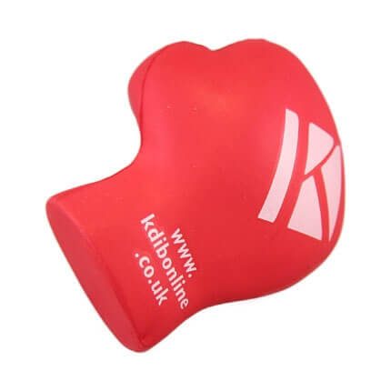 Red Boxing Glove Stress Ball Front View