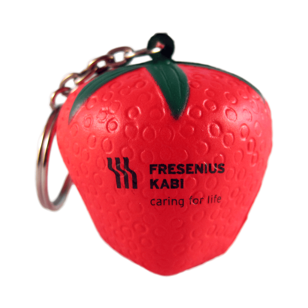 Strawberry Keyring Front