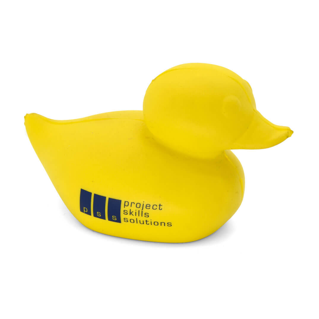 Duck shaped stress ball front view
