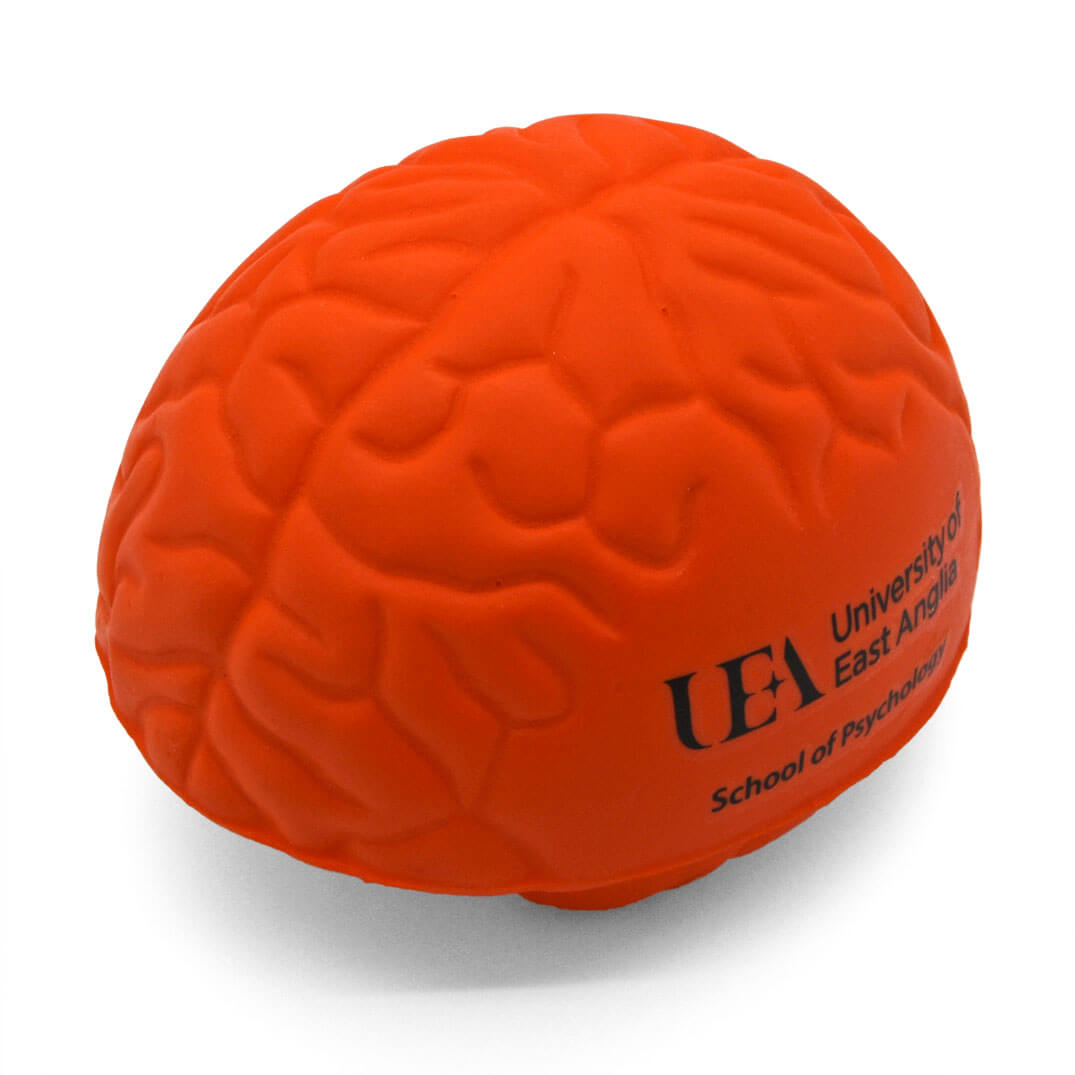 Brain shaped stress ball top view