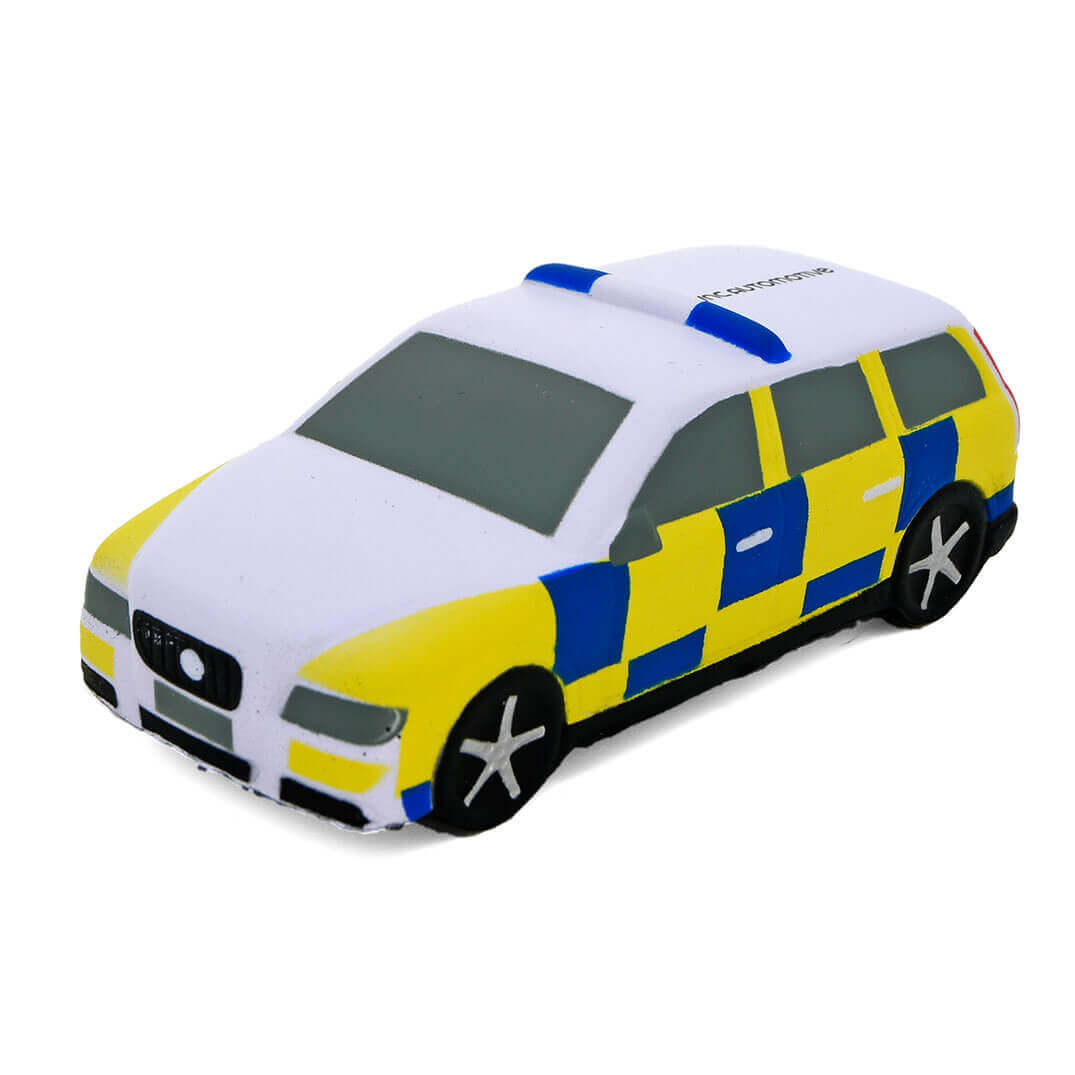 Police Car Shaped Stress Ball Front View