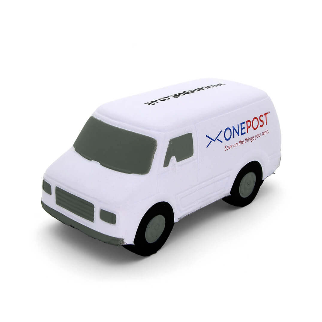 White Van Stress Ball Front View