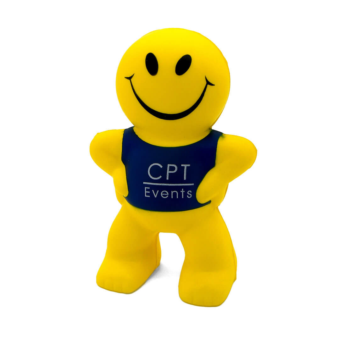 Smiley Man Stress Ball Front View