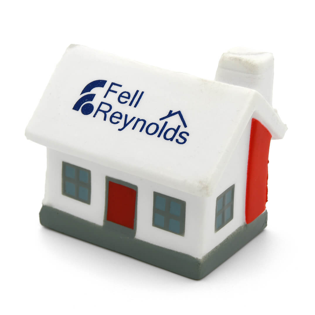 House Stress Ball Front View with White Roof