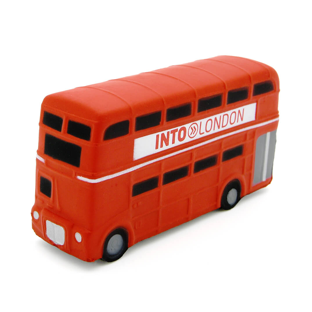 Double Decker London Bus Front View
