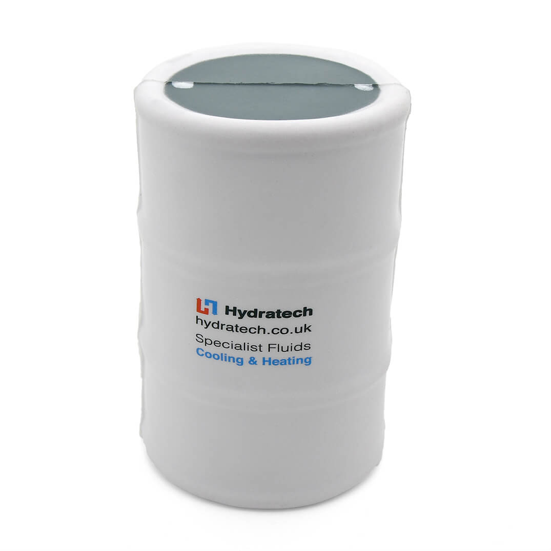 White Oil Drum Stress Ball Front View