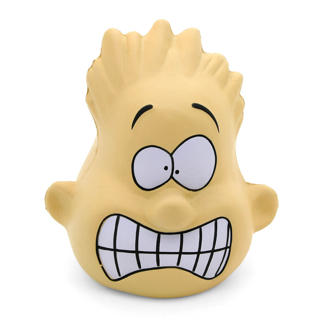 Crazy Face Male Stress Ball Front View