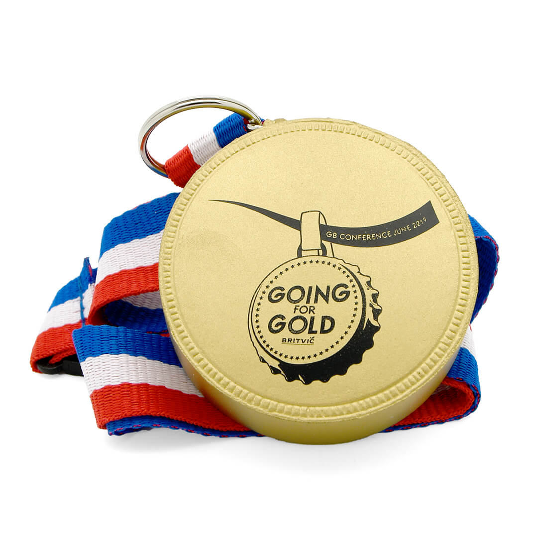 Medal Stress Ball in Gold Front View