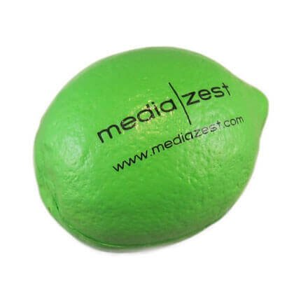 Lime stress ball shape with logo