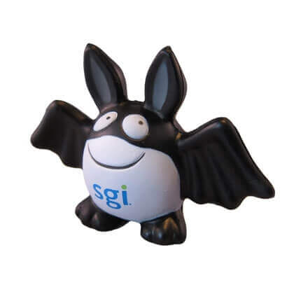 Bat shaped stress ball with logo