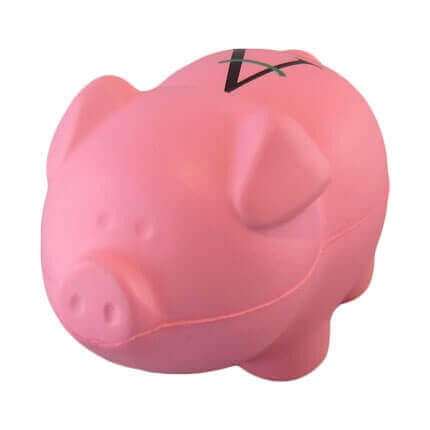 Pig stress ball shape front view
