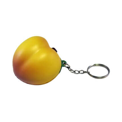Peach Keyring Front