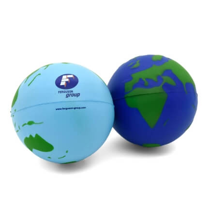 Light and Dark Blue Stress Globes