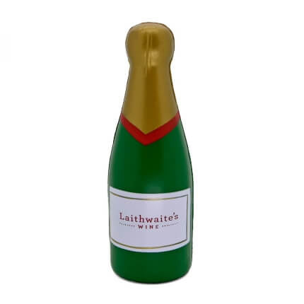 Stress Champagne Bottle Front View