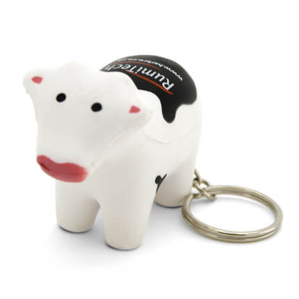 Stress Cow Keyring Front View