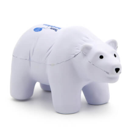 Stress Polar Bear Front View