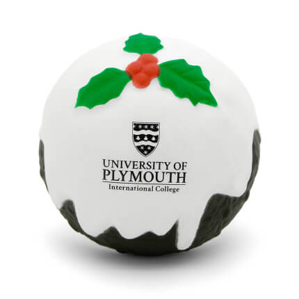 Christmas Pudding Stress Ball Front View