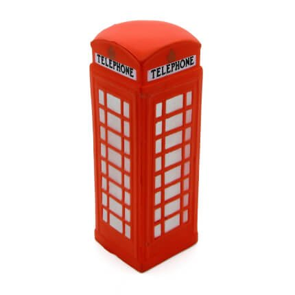Telephone Box Stress Ball Front View