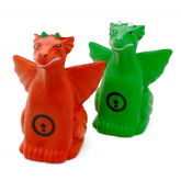 Red and Green Dragon Shaped Stress Balls