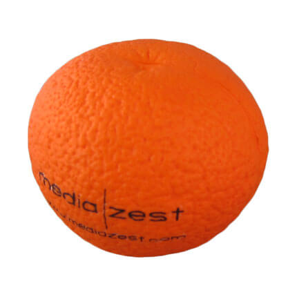 Orange fruit shaped stress toy