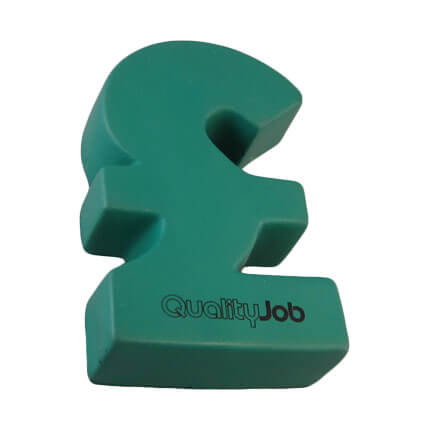 Pound sign shaped stress ball in green