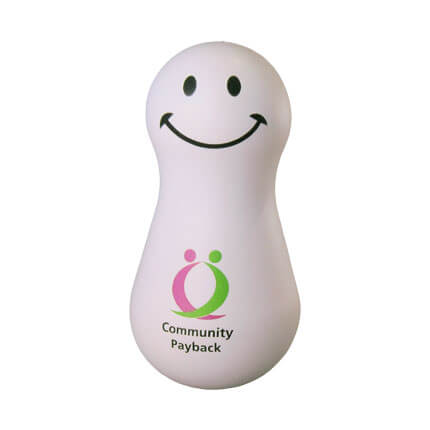Wobbler stress ball shape with logo