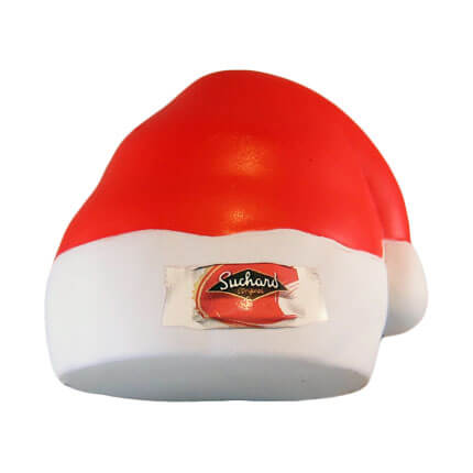 Father Christmas Hat Stress Ball With Logo