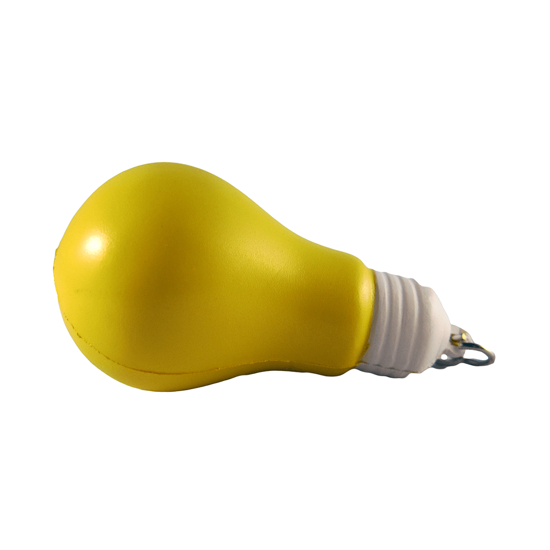 Yellow Bulb Keyring Back