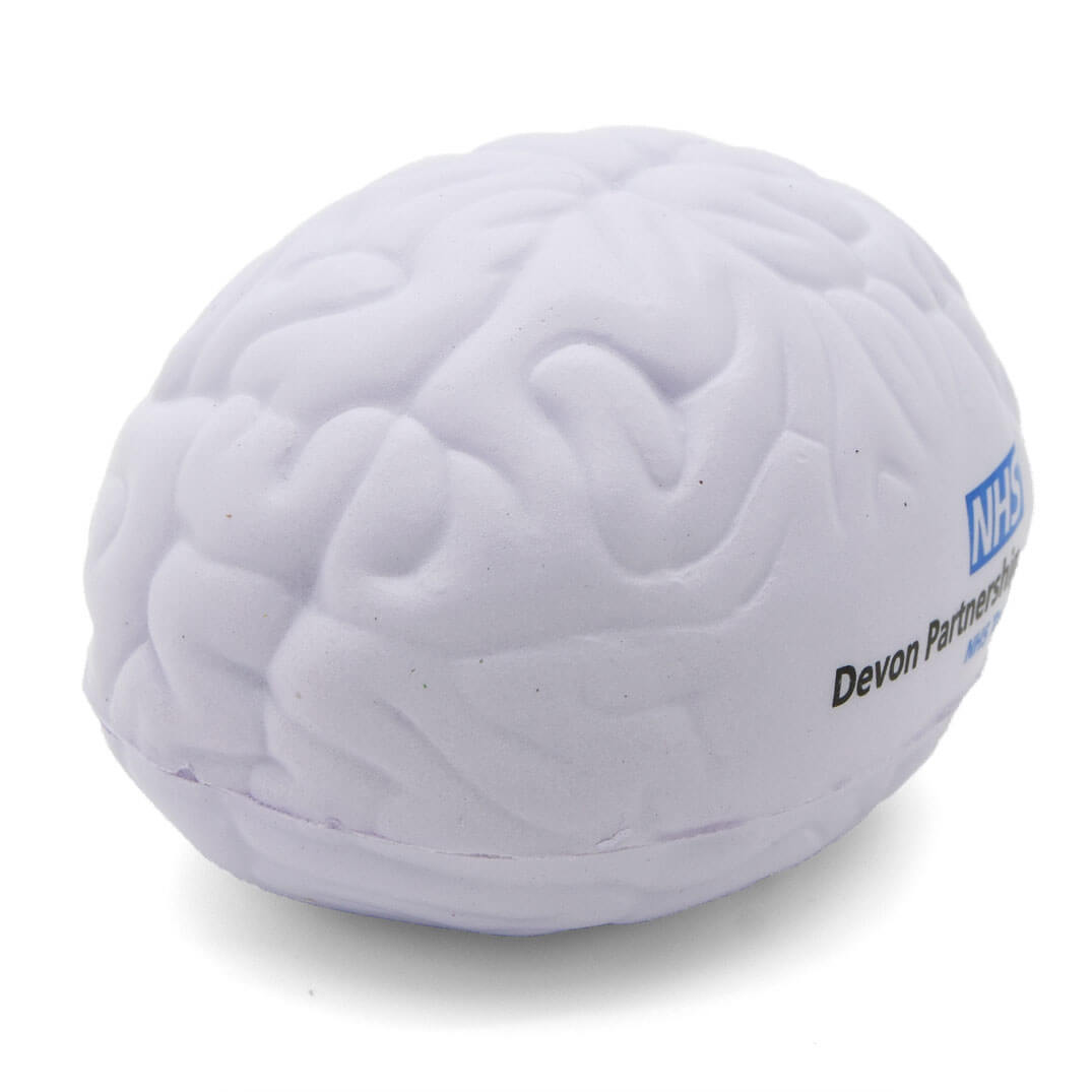 Large White Stress Brain Front View