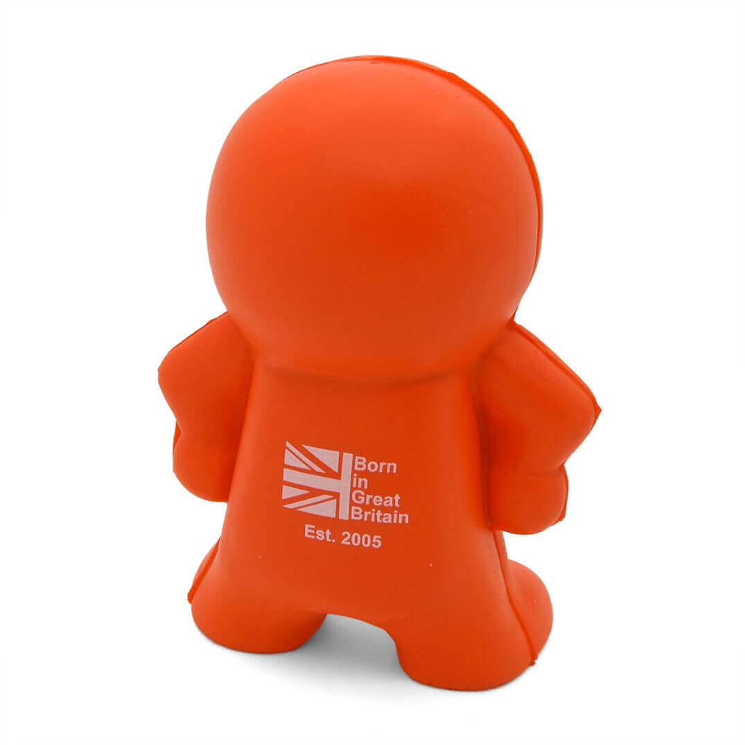 Burt shaped stress toy back view