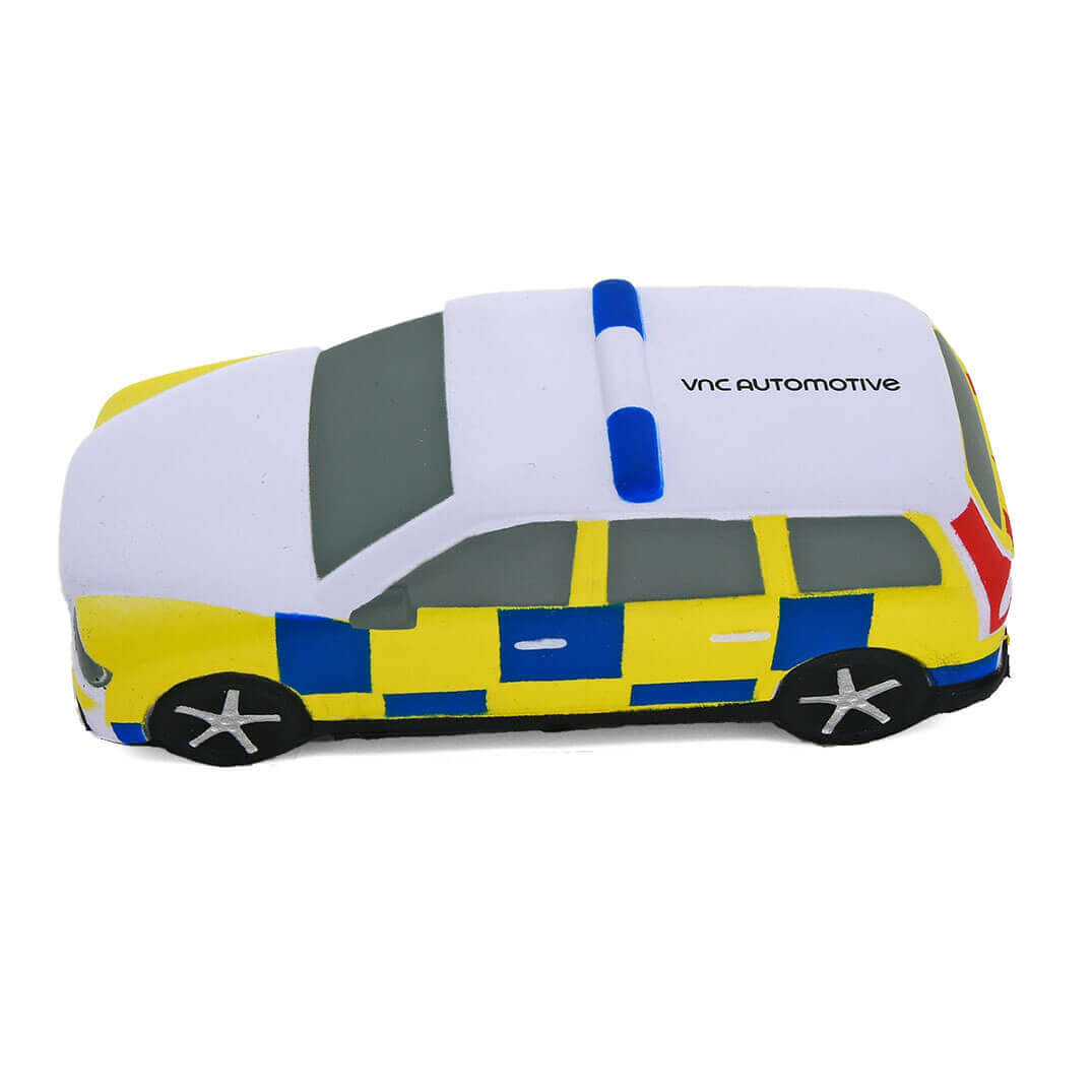 Police Car Shaped Stress Ball Side View