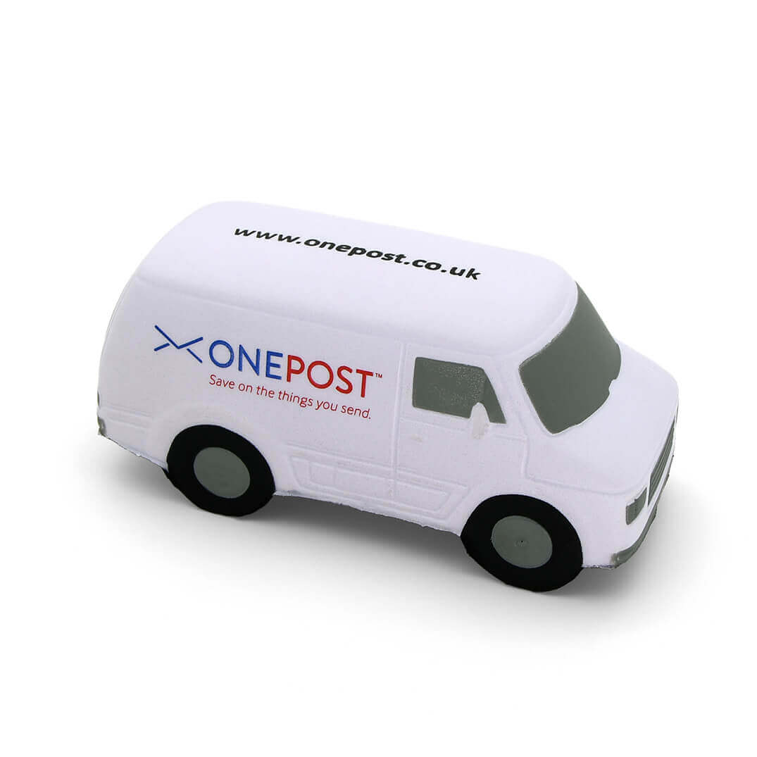 White Van Stress Ball Side View