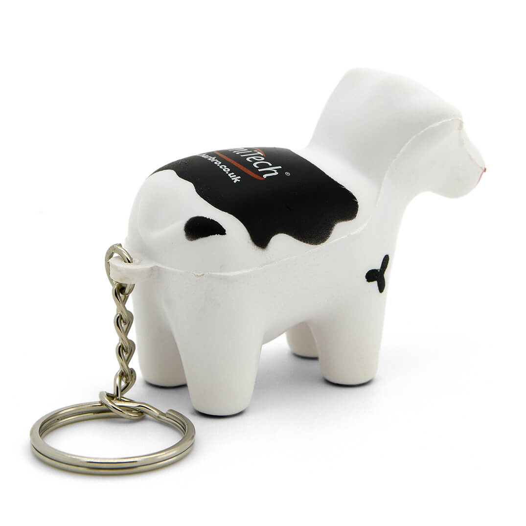 Stress Cow Keyring Rear View