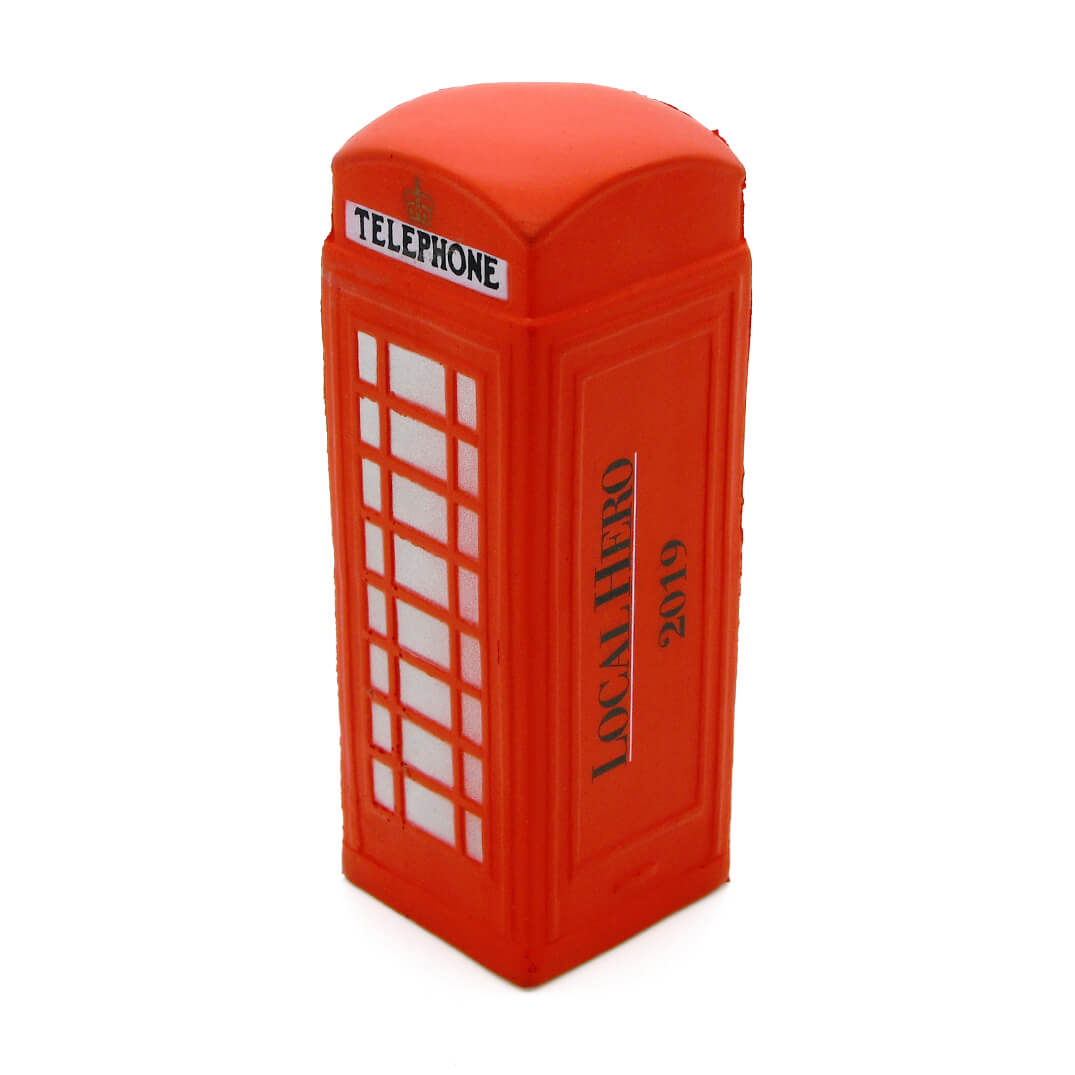 Telephone Box Stress Ball Rear View