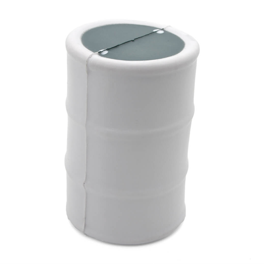 White Oil Drum Stress Ball Rear View