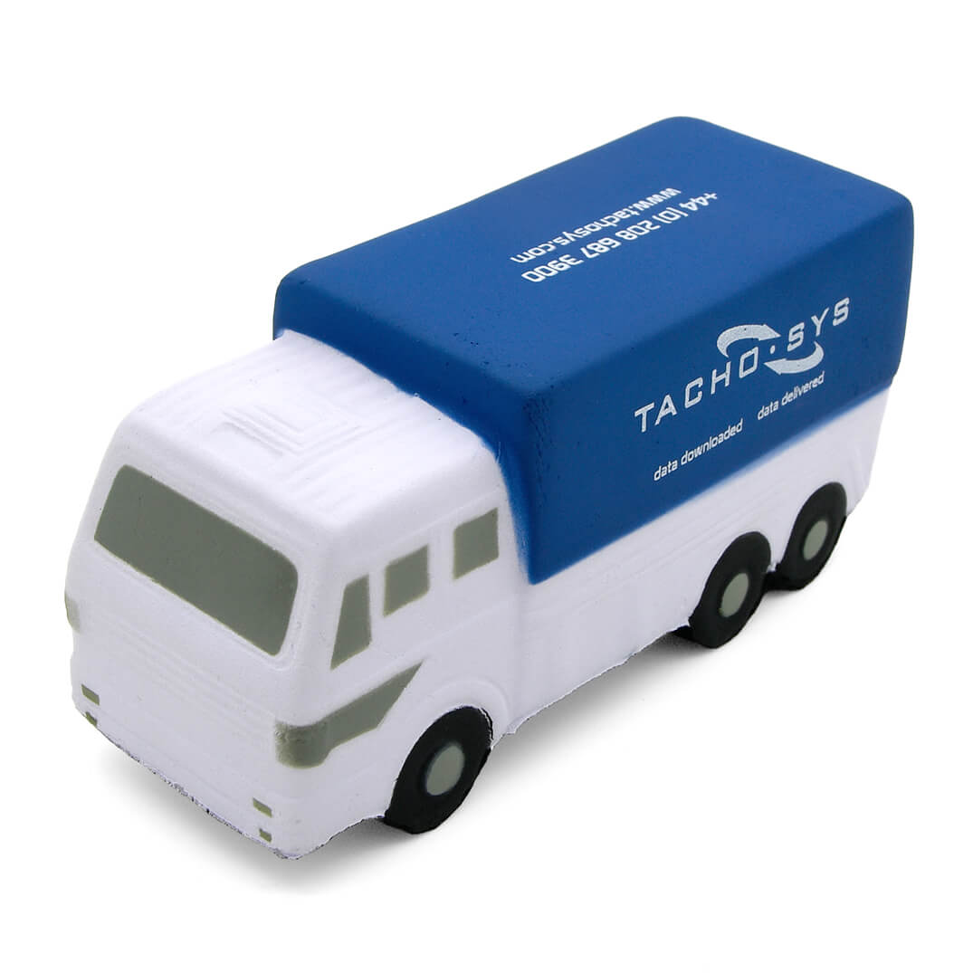 Blue Truck Lorry Stress Ball Front View