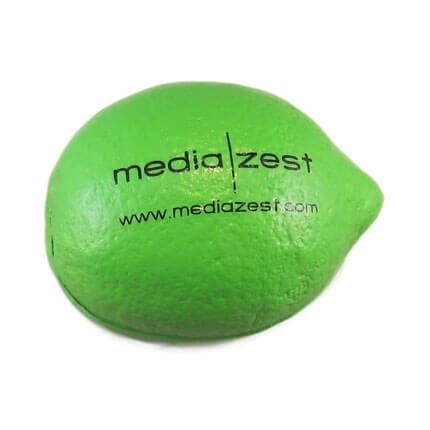 Lime shaped stress toy front view