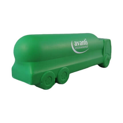 Gas tanker stress ball shape back view