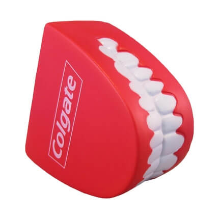 Teeth shaped stress ball top view