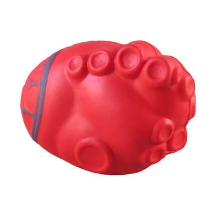 Heart stress ball shape underside view