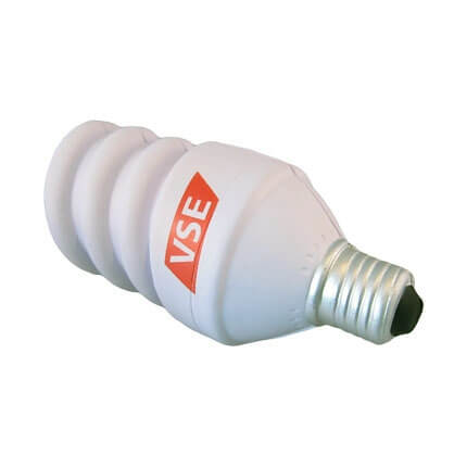 Energy saving light bulb shaped stress ball