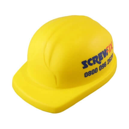 Hard hat stress ball shape front view