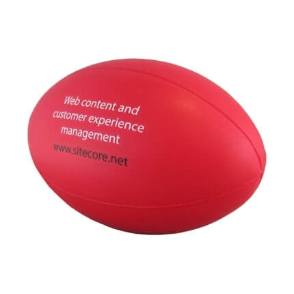 Rugby Stress Ball Angled View