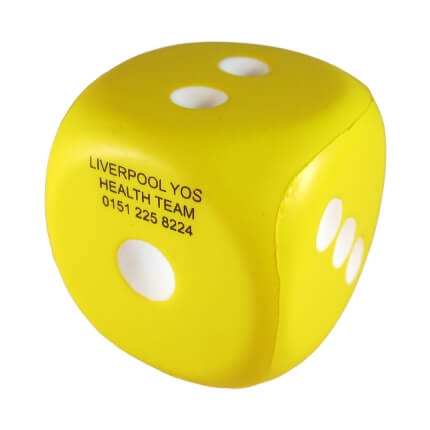 Number One Dice Yellow Front