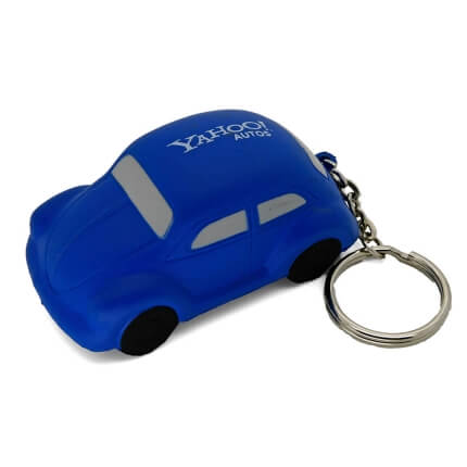 Blue VW Beetle Keyring Stress Ball