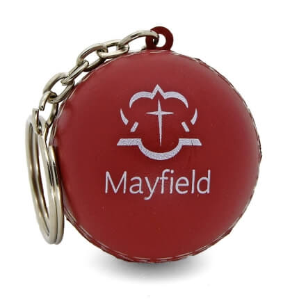 Stress Cricket Ball Keyring Front