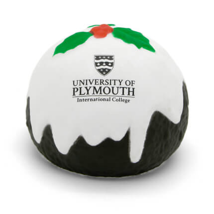 Christmas Pudding Stress Ball Lower Front View